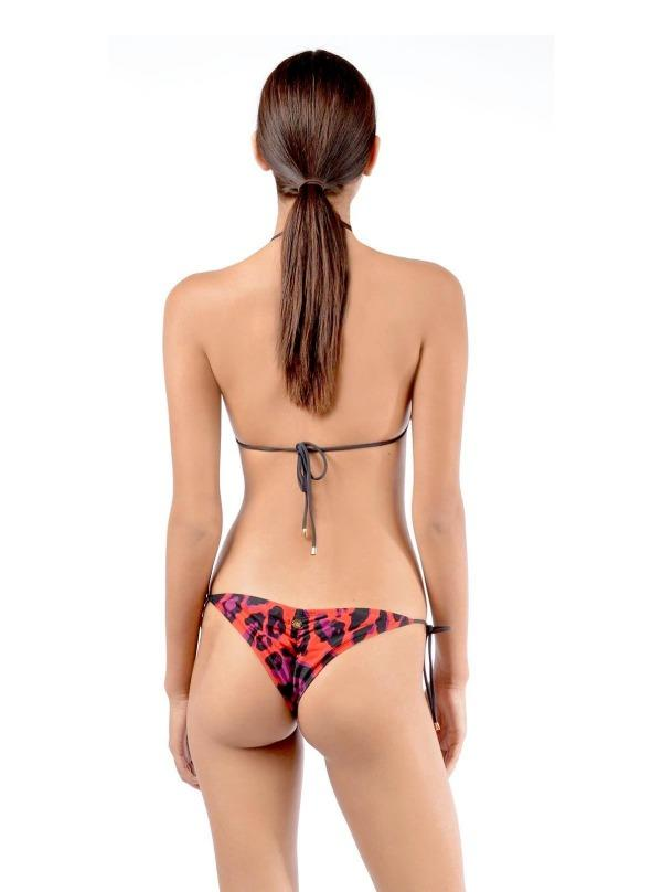 Aguaclara Swimwear Apparel & Accessories > Clothing > Swimwear Aguaclara Swimwear Jaguar Rojo (Red) Top & Bottom Set Aguaclara Swimwear Red Jaguar Rojo 30 13 Designer Luxury Bikini