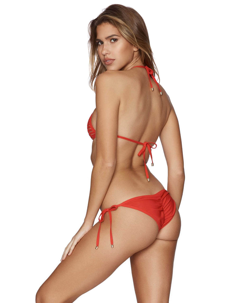 Beach Bunny Apparel & Accessories > Clothing > Swimwear Beach Bunny Red Hard Summer Triangle Top