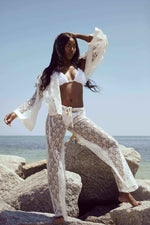 Cioccolato Couture White Alexa Pants & Short Kimono Set (Other colors available)