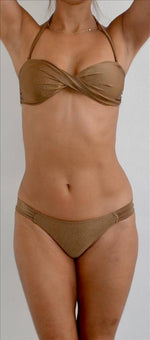 Corpo Bonito Apparel & Accessories > Clothing > Swimwear Large / Nude Bossa Nova Bronze Bandeau Twist Bikini Top Swim Separate Corpo Bonito Swimwear Bossa Nova Bronze Bandeau Bikini Top | SHOP NOW