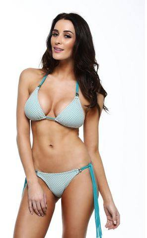 Guria Apparel & Accessories > Clothing > Swimwear Guria Beachwear Canopy Sky Blue Triangle Top & Side Tie Scrunch Bottom Bikini Swimsuit Swimwear Guria Canopy Sky Blue Bikini with Triangle Top and Scrunch Butt Side Tie Brazilian Cut Bottom