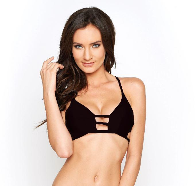 Montce Swim Black Cage Swimsuit Top