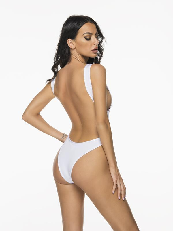 Montoya Apparel & Accessories > Clothing > One Pieces > Jumpsuits & Rompers Liliana Montoya Trikini Azalea Shiny White One Piece Bikini
