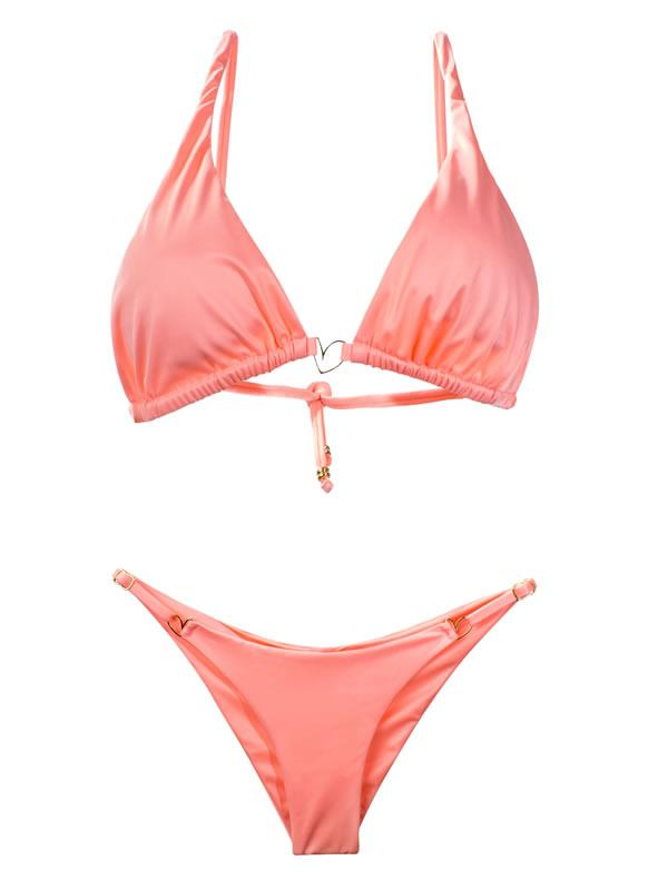 Montoya Apparel & Accessories > Clothing > Swimwear Liliana Montoya Peach Bikini Marinera Tops Bikini Swimwear Separate