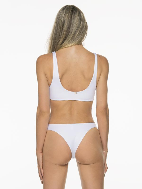 Montoya Apparel & Accessories > Clothing > Swimwear Liliana Montoya White Bikini Bottom Heart Shiny Top & Bottom Bikini Swimwear Set