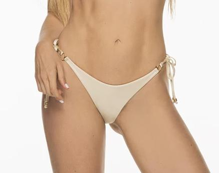 Montoya Apparel & Accessories > Clothing > Swimwear Small / Beige Liliana Montoya Bikini Marinera Biege Shiny Bottom Bikini Swimwear Separate