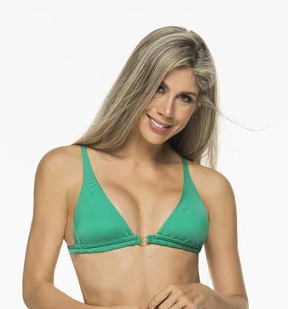 Montoya Apparel & Accessories > Clothing > Swimwear Small / Green Liliana Montoya Green Grass Bikini Marinera Top Double Straps Bikini Swimwear Separate
