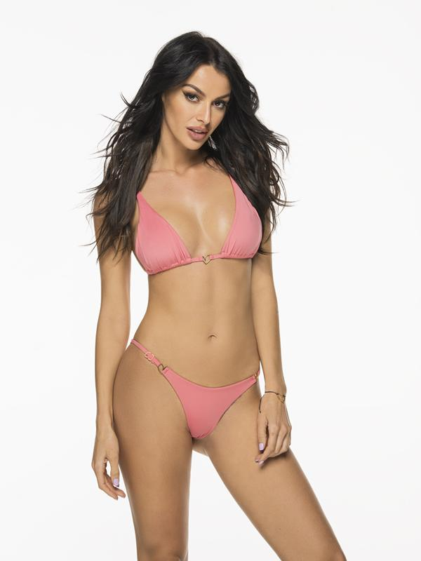 Montoya Apparel & Accessories > Clothing > Swimwear Small / Small / Pink Liliana Montoya Rose Bikini Marinera Tops & Bottom Bikini Swimwear Set