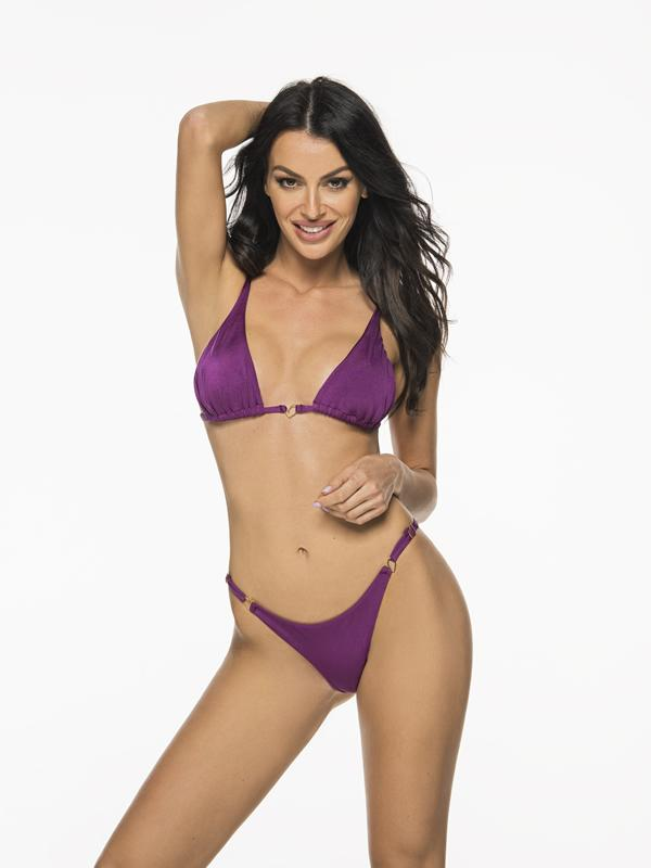 Montoya Apparel & Accessories > Clothing > Swimwear Small / Small / Purple Liliana Montoya Purpura Bikini Marinera Tops & Bottom Bikini Swimwear Set