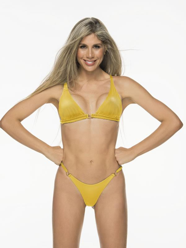 Liliana Montoya Goldy Day Bikini Marinera Top Double Straps & Bottom Bikini Swimwear Set