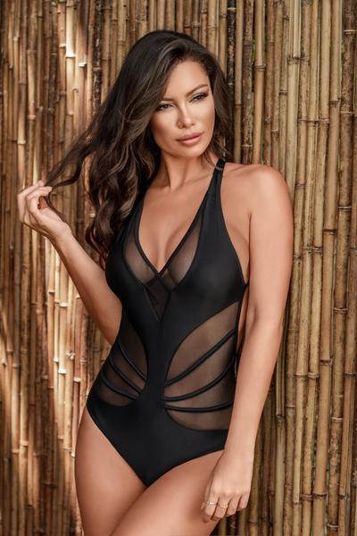 Notorious Swimwear Apparel & Accessories > Clothing > Swimwear Small / Black Notorious Swimwear Black Graceful One Piece Swimwear Swimsuit