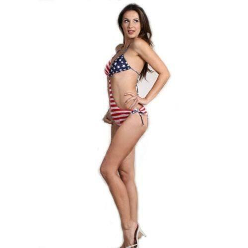 SoHot Swimwear Apparel & Accessories > Clothing > Swimwear One Size / Print Sexy and Patriotic USA Flag Stars and Stripes One Piece Monokini Swimwear Swimsuit by Mapale Sexy and Patriotic USA Flag Stars and Stripes One Piece Monokini Swimwear Swimsuit