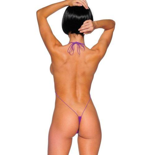 SoHot Swimwear Apparel & Accessories > Clothing > Swimwear Purple Extreme Micro Slingshot G-String Thong Monokini Bikini One Piece Swimsuit Swimwear Blue Extreme Micro Slingshot G-String Thong Monokini Bikini One Piece Swimsuit Swimwear