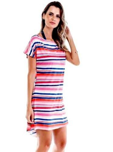 Sol e Energia Apparel & Accessories > Clothing > Dresses Toscana Resort Cover-up Toscana Stripe Resort Beach Cover Up | Sol E Energia | SD015