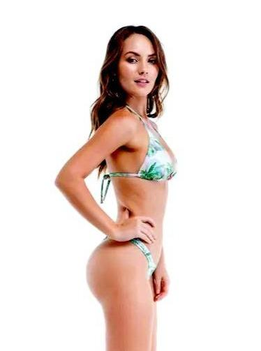 Sol e Energia Apparel & Accessories > Clothing > Swimwear Nice Floral Print Triangle Top & Thong Bottom Set Nice Floral Swimsuit Bikini Sol E Energia Swimwear 78842