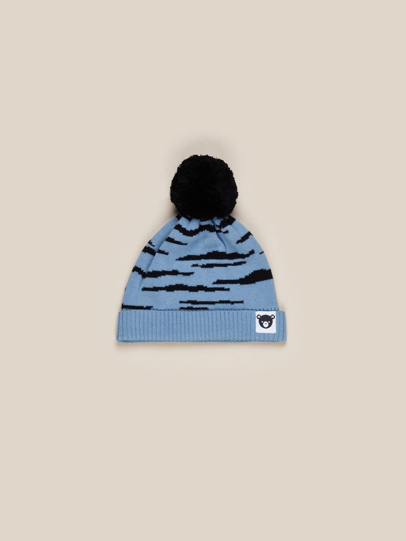 Huxbaby - DENIM BLUE WILDCAT KNIT BEANIE