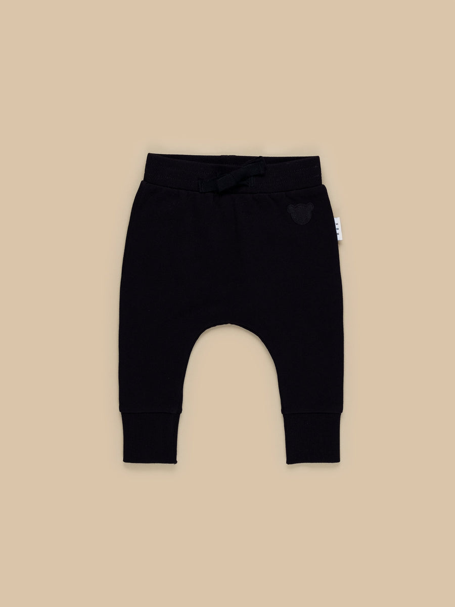 BLACK DROP CROTCH PANT - Huxbaby