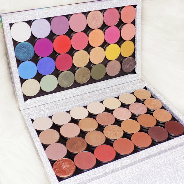Slight Cosmetic Flaws SALE! -  Holographic XL - 56 Pan Empty Magnetic Makeup Palette