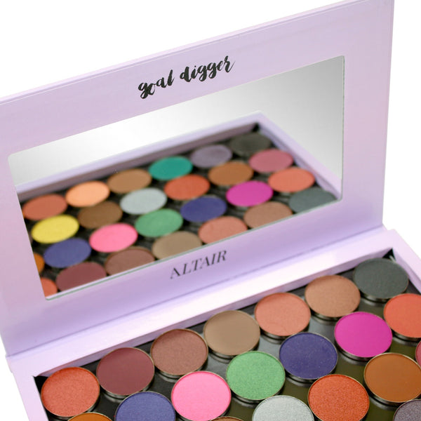 Altair Beauty Empty Magnetic Makeup Palette - Purple - Goal Digger for Depotting Eyeshadows, Highlighters, Blush.  Depot Makeup.