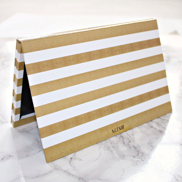 Gold & White Stripe Large Altair Empty Magnetic Palette