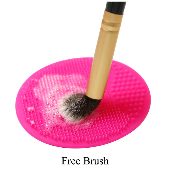 z- 9pcs Pink Chevron Brush Set