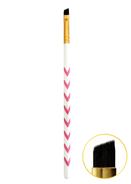 X - Angled Brow Brush - Pink Chevron