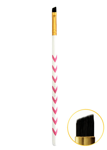 Angled Brow Brush - Pink Chevron
