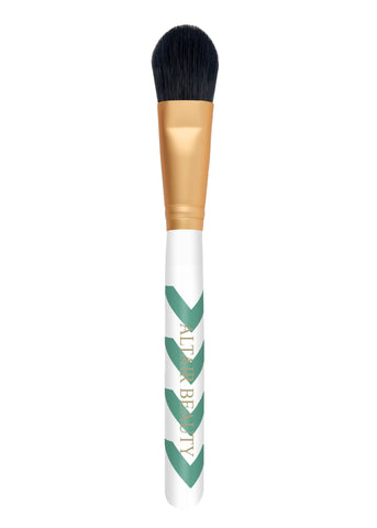 Mint Chevron Foundation Brush