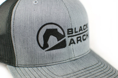 Black Arch Logo Trucker Hat