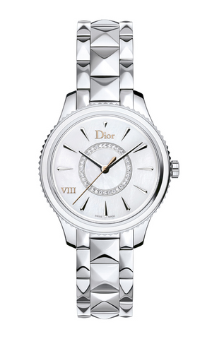 Dior VIII Montaigne 32mm steel with Diamonds