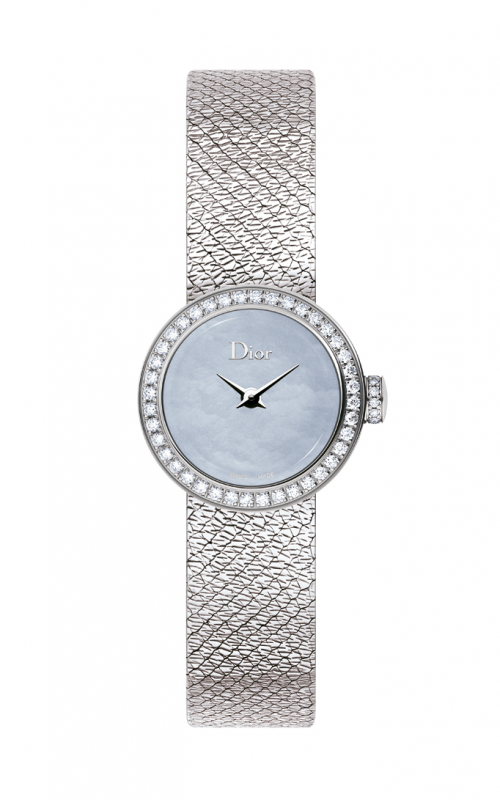 La Mini de Dior 19mm Blue with Diamonds