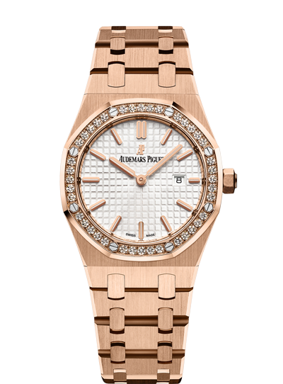 Audemars Piguet Royal Oak 33mm Rose Gold Diamonds Quartz