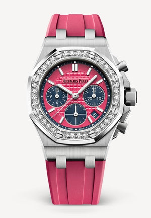 Audemars Piguet Royal Oak 37mm Offshore Chrono Steel Deep Pink Diamond Bezel