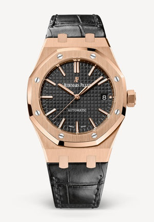 Audemars Piguet Royal Oak 37mm Rose Gold on Black Aligator
