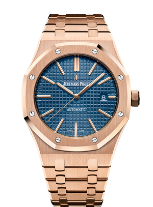 Audemars Piguet Royal Oak 41mm Rose Gold Blue Dial