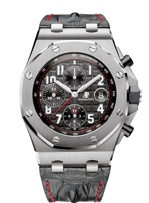 Audemars Piguet Royal Oak 42mm Offshore Chronograph Steel Black Red