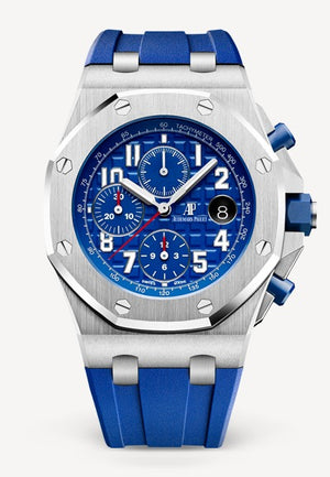 Audemars Piguet Royal Oak 42mm Offshore Chronograph Steel Blue on Blue