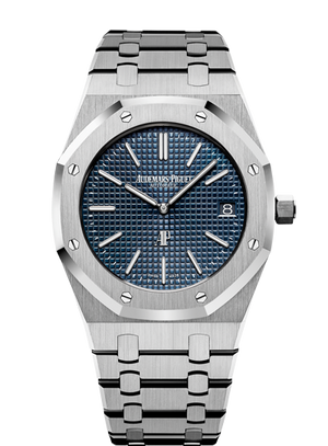 "Audemars Piguet Royal Oak 39mm Extra Thin Blue Dial ""Jumbo"""