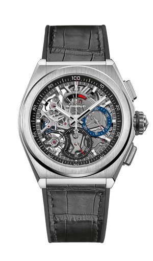 Zenith Defy Brushed Titanium on Alligator