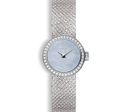 Dior Mini D 19mm Blue with Diamonds