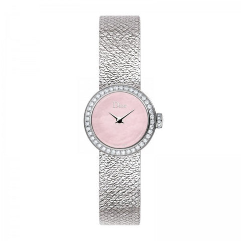 Dior Mini D 19mm Pink with Diamonds