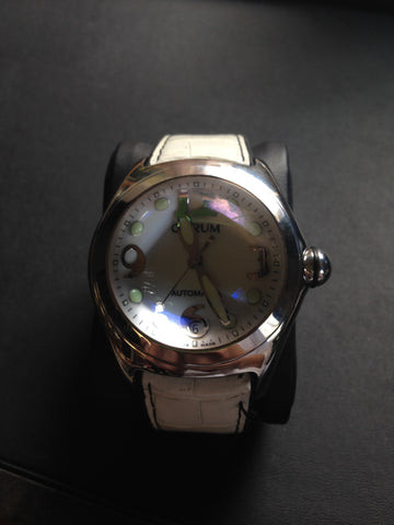 Corum Bubble white leather