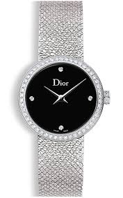La D de Dior 25mm Black Steel Diamonds