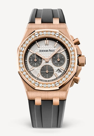 Audemars Piguet Royal Oak 37mm Off Shore Chrono Rose Grey Diamond Bezel
