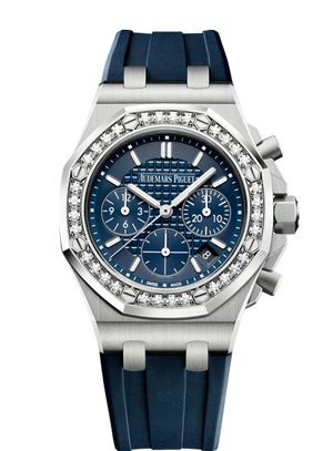 Audemars Piguet Royal Oak 37mm Off Shore Chrono Steel Blue Diamond Bezel