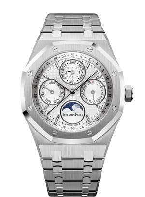 Audemars Piguet Royal Oak 41mm Steel White Perpetual Calendar