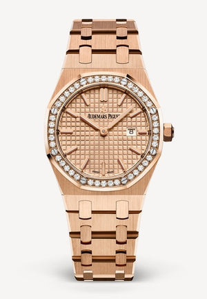 Audemars Piguet Royal Oak 33mm Rose Gold Diamonds Rose Gold Dial