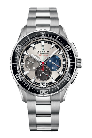 Zenith Stratos Flyback 45mm SS Bracelete - Felix Baumgartner tribute