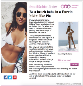 Be a beach babe in a Eurvin bikini like Pia
