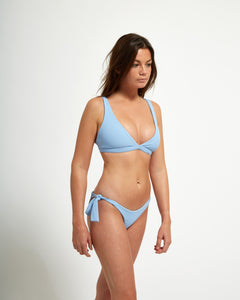 Capri Top  Blue Rib - Eurvin Swimwear & Clothing - Australia Made